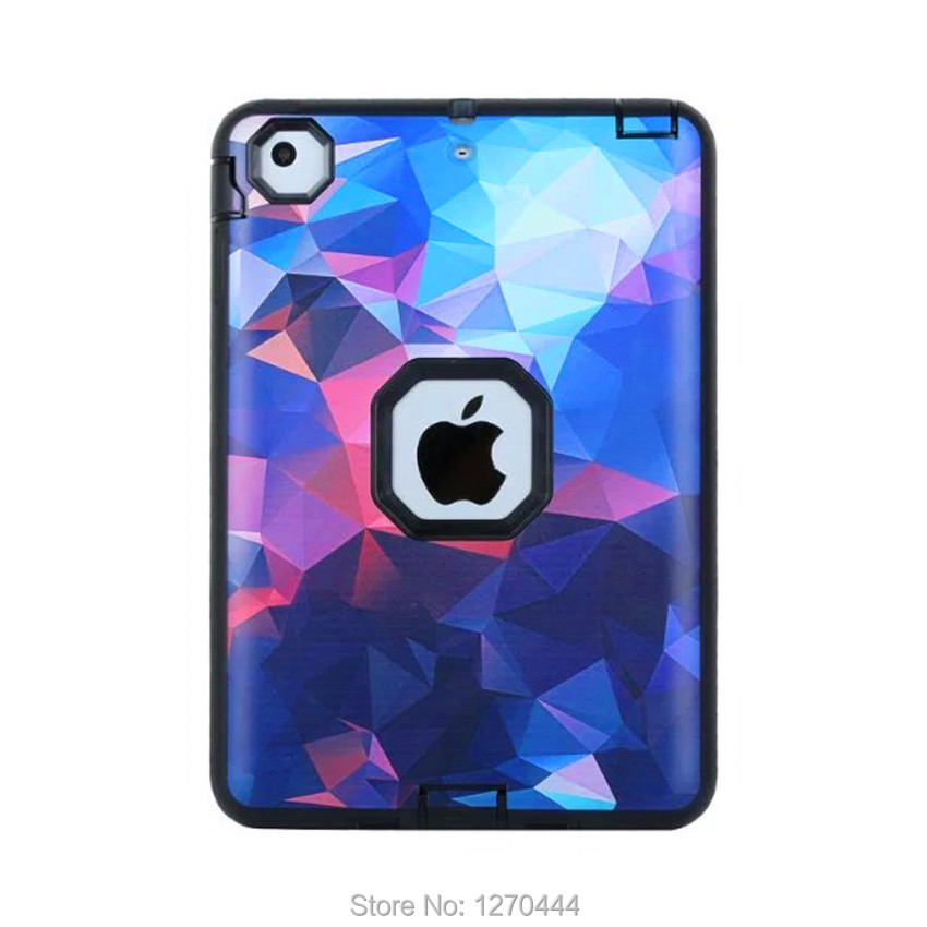 Fashion colorful Shockproof Case for Apple iPad Mini Case Silicone Protect Tablet Shell Back Cover for iPad Mini 1 mini 2 mini 3