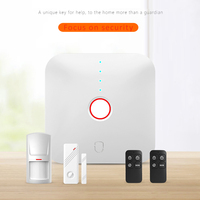 (1 kit) Smart WIFI kit For Home security Alarm support Apps control Wireless PIR Motion Door Contact sensor Anti Burglar System