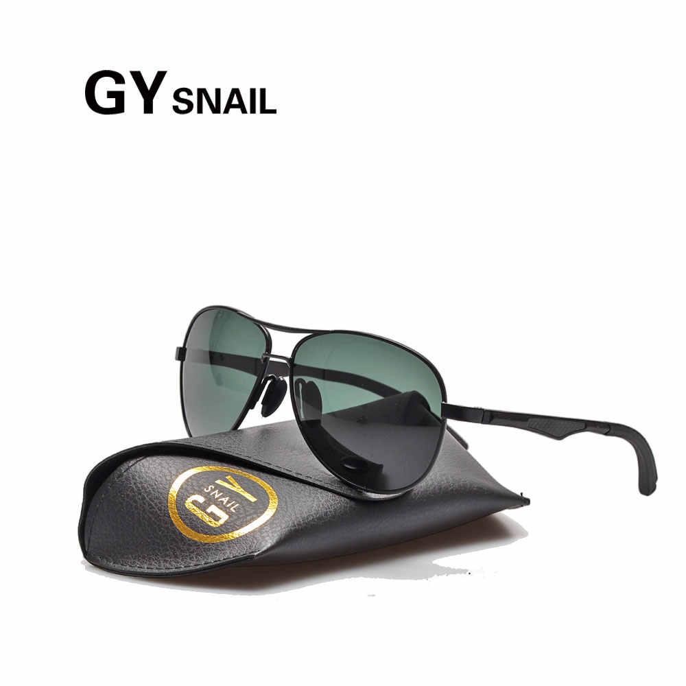 3613994100 GYSNAIL Top quality Famous Brand classic pilot Sunglasses Men Polarized  UV400 mens sunglasses Original Male Sun