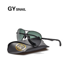 GYSNAIL Top quality Famous Brand classic pilot Sunglasses Men Polarized UV400 mens sunglasses Original Male Sun Glasses for