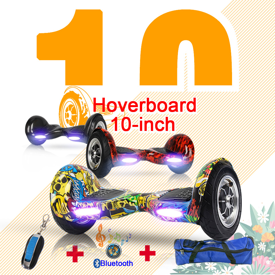 10inch Hoverbaord battery Electric self balancing Scooter Bluetooth key Bag for Adult Kids patinete  skateboard overboard iscooter 10inch hoverbaord samsung battery electric self balancing scooter for adult kids skateboard 10 wheels 700w hoverboard