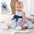 Menina Crianças Cotton Top Bow Knot Mantas Vestido Outfit Roupas Da Criança Do Bebê 0-3 Anos Quentes