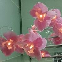 Mới lạ phong lan Tiên Chuỗi Lights vòng hoa, 4 M 20 leds Thời Trang Sạn Holiday garland, Party hoa trang trí, trang chủ trang trí phòng