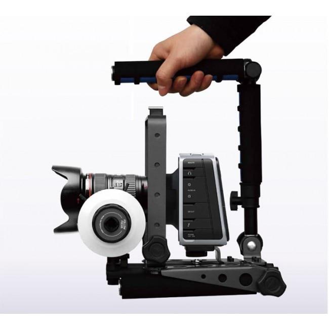 F&V Spider Steady Camera Stabilizer II DSLR Rig Shoulder Mount Movie Kit Support for Camera Canon 5D II 60D 7D 6D 70D dslr dv rig movie kit shoulder mount steady support stabilizer for canon 5d mkii 5d3 6d 7d 60d 600d 700d 80d 760d camera