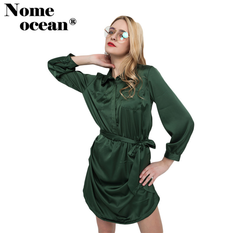 Military Design Women Jumpsuits Belted Tied Strap Waist Women Shorts Button Fly Pockets Long Sleeve Short Jumpsuit M16011102