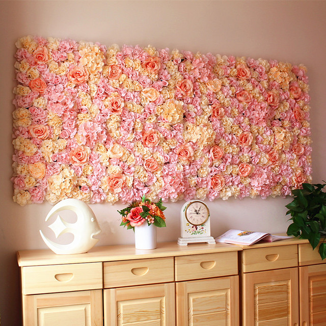 40x60cm Artificial Silk Rose Flower Wall Decoration Decorative Hydrangea Home Party Wedding Backdrop Accessories