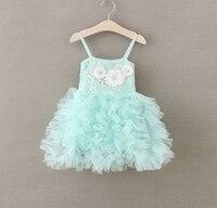 New Baby Girls Sweet Ball Lace Summer Sling Dresses Princess Kids Cute Clothing 5 Pcs Lot