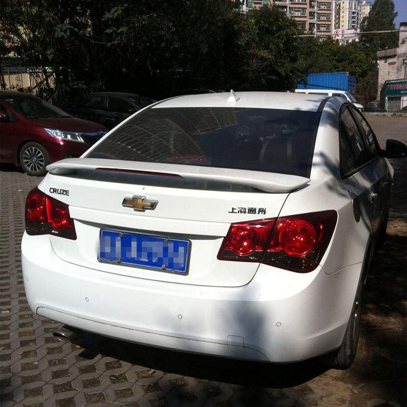 Для Chevrolet Cruze надрезаемая подкладка, ABS Материал заднего крыла автомобиля unpaint цвет задний спойлер для Chevrolet Cruze спойлер 2009 2014