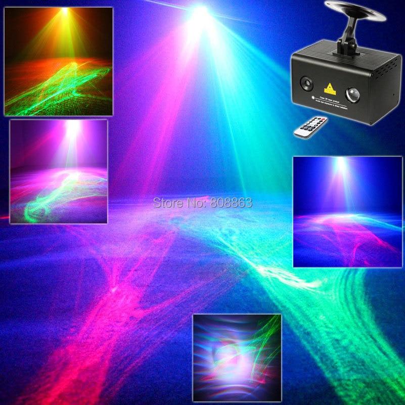 New R&G Laser Pattern Aurora Water Galaxy Sky Effect Full Color RGB LED DJ Home Party Disco Coffee Shop Xmas Bar Dance Light T34
