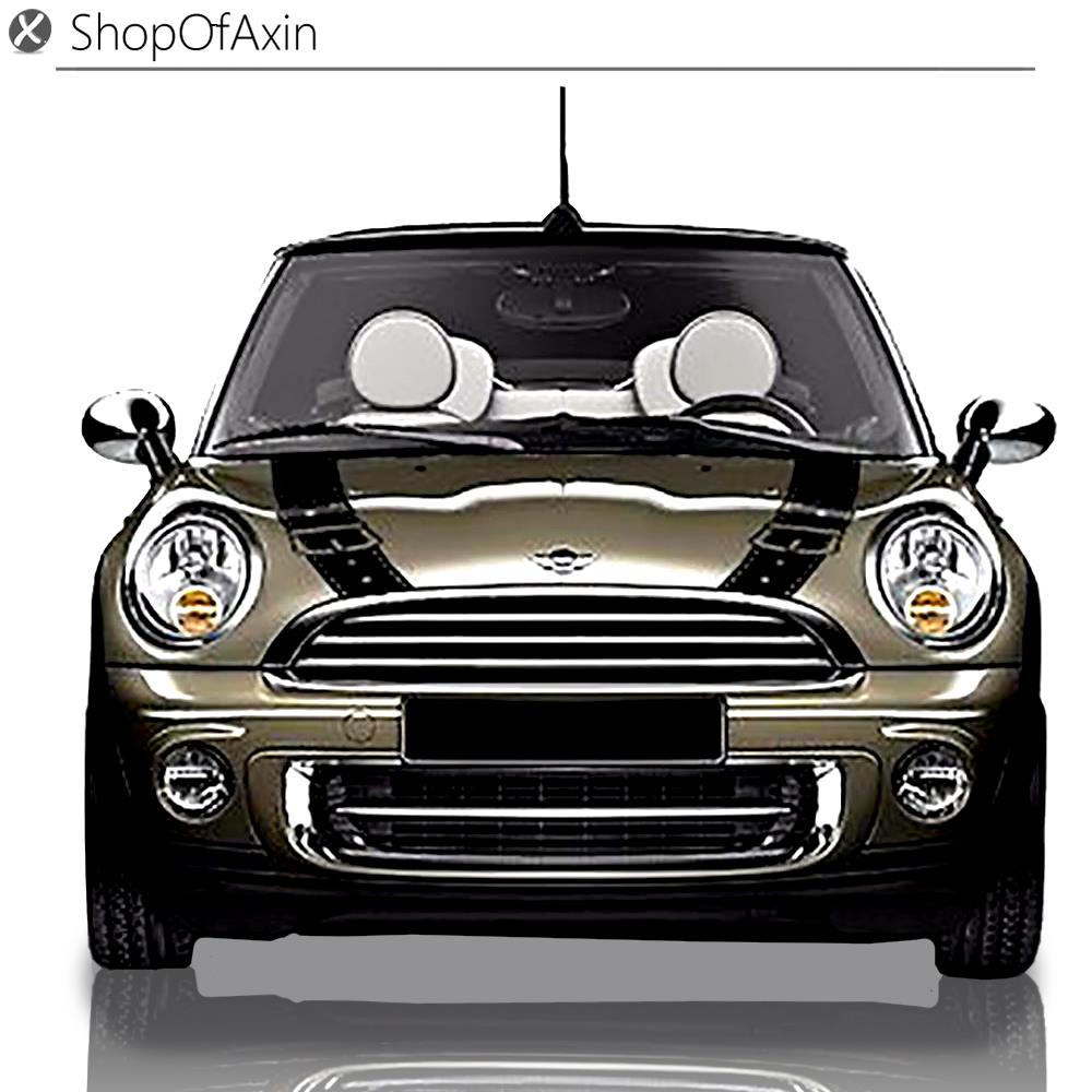 Belt Style Car Hood deco Graphics Decoration Sticker For Mini Cooper R50 R52 R53 R55 R56 R57 R58 R59 R60 R61 F55 F56 F54 F60 british cool soldiers car side door skirt decal sticker decoration for mini cooper one jcw s r60 r55 r56 f55 f56 f60 car styling