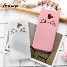 Fintorp Cat Case For Samsung Galaxy J6 Plus Cases Cute Soft Silicone Cover Coque On Prime 2018 Covers