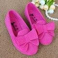 Deslizar sobre meninas shoes com arco 2017 primavera apartamentos crianças casual shoes bailarinas sapatos da menina das crianças coloridas ninas
