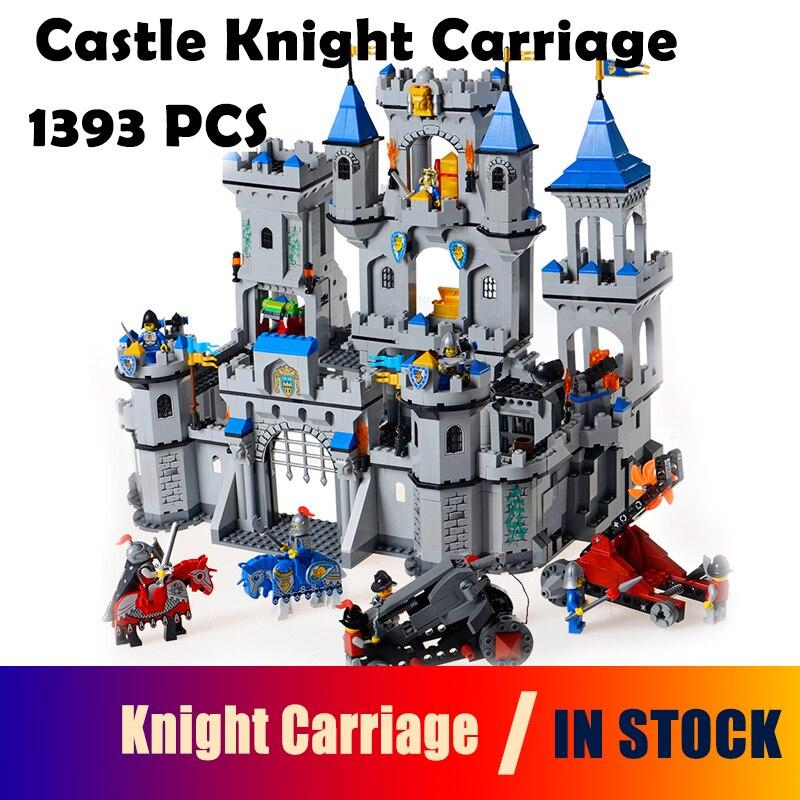 цена Model building block set Compatible With Lego Enlighten 1023 Medieval Lion Castle Knight Carriage Model Bricks Toys for Children онлайн в 2017 году