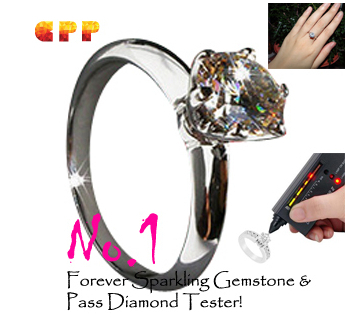 Free shipping Forever Brilliant Stamp PT Proposal Engagement Wedding Anniversary Ring For