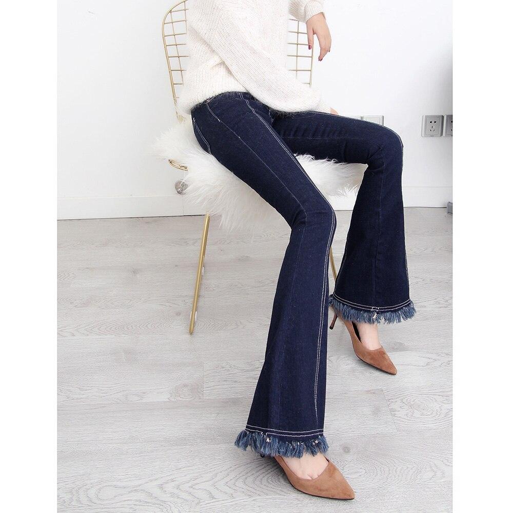 32 Glands Longs Pantalon 2019 Pour Femelle Grande Pantalons Livraison Femmes Taille Évasé Mode Bleu Gratuite 24 Jeans Nouvelle D'été Denim 6zxgXUn
