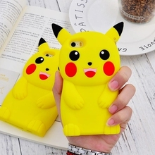 DHL 100PCS Cute Plant Cactus Pineapple Ice Cream Pikachu Rubber Case For iPhone 7 6S 6 Plus 5 5S SE 3D Silicone Cover Coque Capa