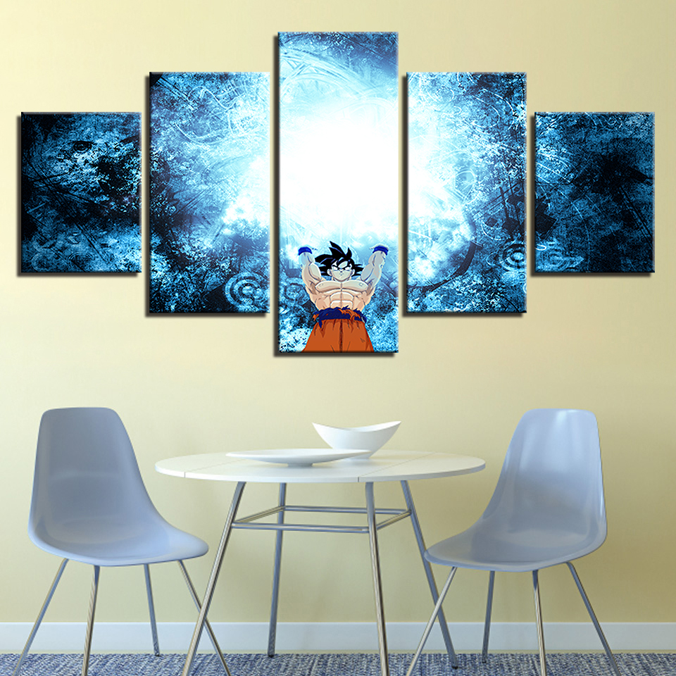 HD Print Paintings on Canvas Wall Art Animation Cartoon Dragon Ball Home Artwork 5 Piece Painting