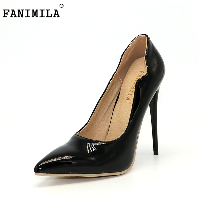 FANIMILA 9 Colors Size 34-47 Sexy Shoes Woman High Heels Women Pumps Thin Heel Woman Shoes Pointed Toe High Heels Wedding Shoes 2016 woman shoes high heels platform ladies bow heel womens pumps 4 colors thin heels sexy wedding shoes for women big size