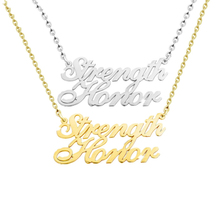 Buy dropship personalized gifts and get free shipping on etcavce stainless steel custom two names necklace jewelry negle Image collections