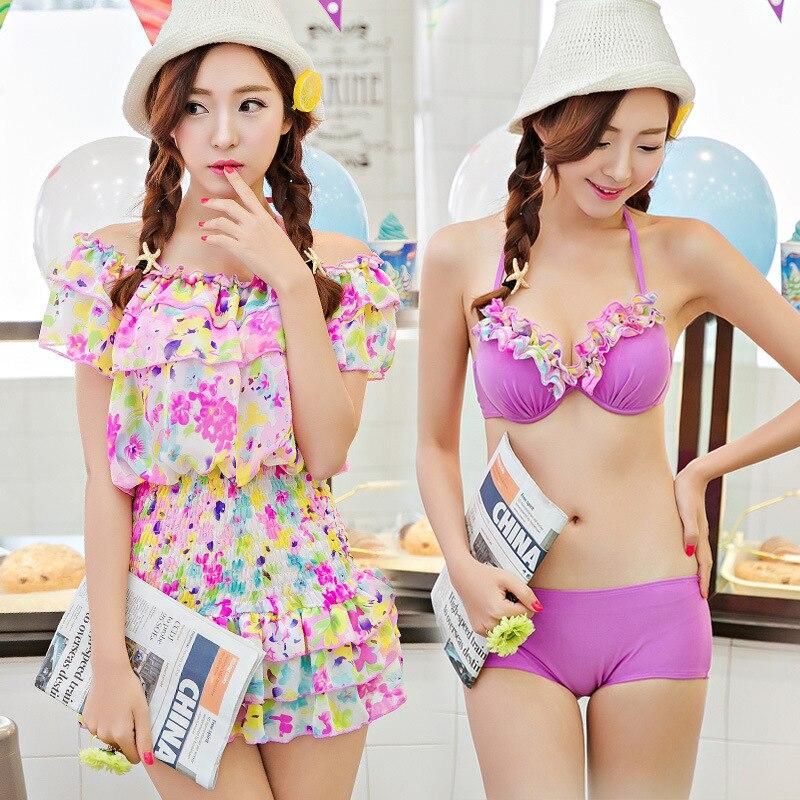 korean student in bikini