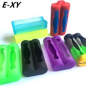 Силиконовые чехлы для аккумуляторов 18650, 8 шт./лот, цветные защитные чехлы из мягкой резины для 2 аккумуляторов 18650, E-XY