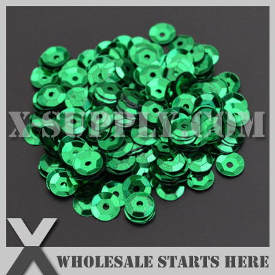 Metallic #5 <font><b>Green</b></font> Round Loose <font><b>Cup</b></font> <font><b>Sequin</b></font>,Loose Spangle,Loose Paillettes for Shoe,Bag,Clothing/Bulk Wholesale