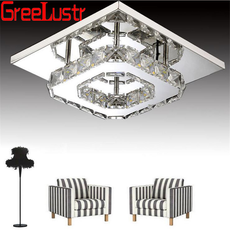 Minimalist Crystal Square Led Chandelier Lights Lamp K9 Cristal Ceiling Luminaire Lamps For Hallway Aisle Lustres Light FixturesMinimalist Crystal Square Led Chandelier Lights Lamp K9 Cristal Ceiling Luminaire Lamps For Hallway Aisle Lustres Light Fixtures