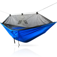 Ultraleve Acampamento Ao Ar Livre Caça Mosquiteiro Parachute Hammock Pessoa Flyknit 2 Hamaca Garden Hamak Pendurado Cama Lazer Hamac|Redes| |  -