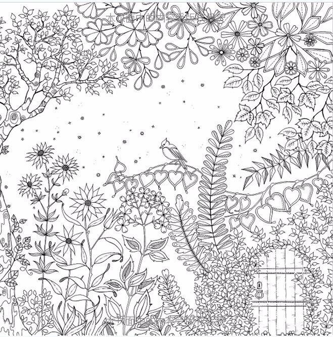 2015 Terbaik Penjual 422g Secret Garden Jardim Secreto Buku Buku