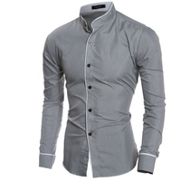 Men Shirt Luxury Brand 2016 Male Long Sleeve Shirts Casual Mens Edge Collar Slim Fit Dress