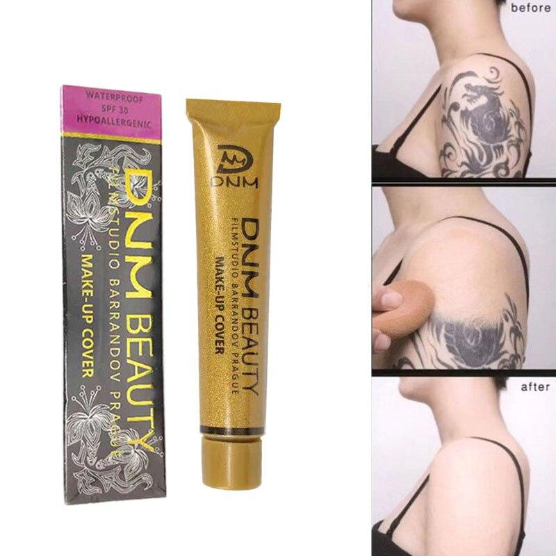 Full Skin Concealer Foundation Cream Face Professional Blemish Cover Dark Spot Tattoo Eye Dark Circle Cover Makeup Concealer