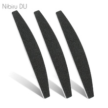 5 pcs/lot Professional Nail File 100/180 Sandpaper Double Side Sanding Buffer Black For UV Gel Polish Nails Files Manicure Tool