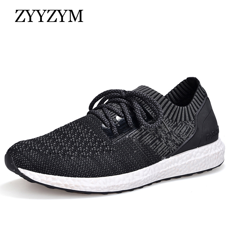 ZYYZYM Men Casual Shoes Spring Lace-up Low Style Breathable Mesh Top Fashion Sneakers Youth Man Shoes 2018 Hot Sales цена