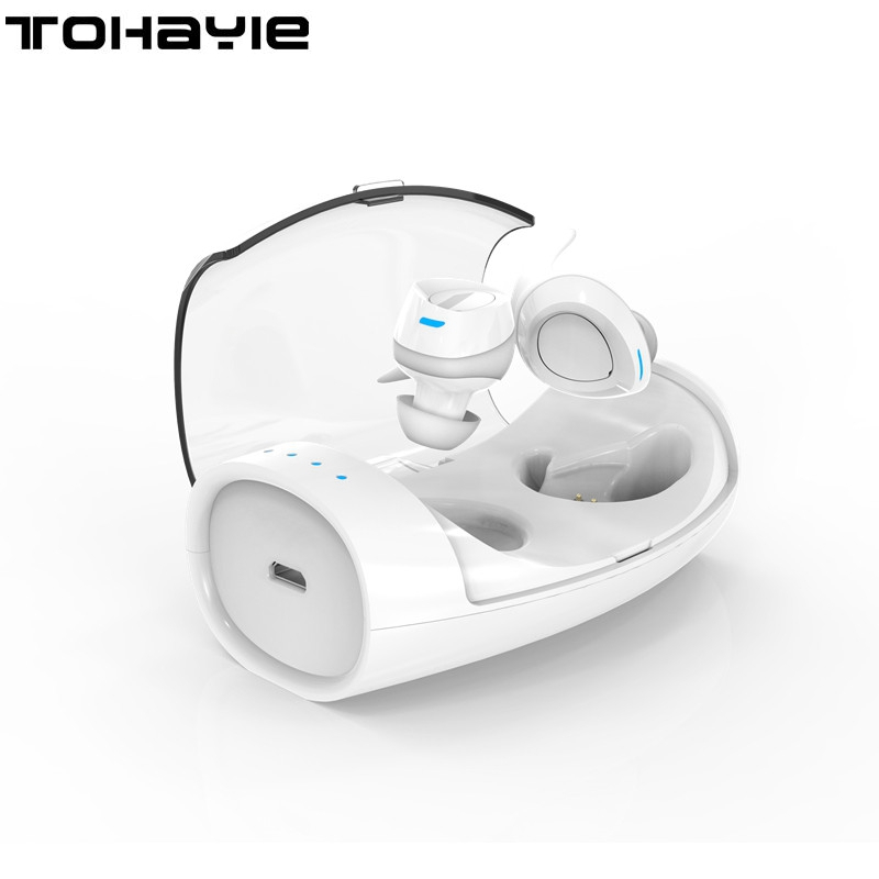 ToHayie Truly Wireless Bluetooth Earphone Headset Mini Earphone Earbud With Mic Portable Stereo Handsfree Ear Buds PK i7 Headset vodool bluetooth earphone earbud mini wireless bluetooth4 1 headset in ear earphone earbud for iphone android smartphone