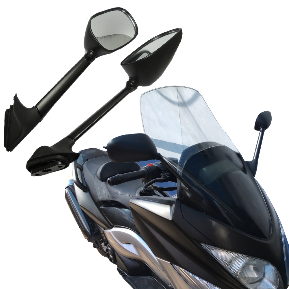 KEMiMOTO Rearview Side Mirrors for Yamaha T-MAX 500 XP 500 2008 2009 2010 2011 T-MAX500 TMAX 500 Mirrors Long 100% New gigi крем для век и шеи new age comfort eye