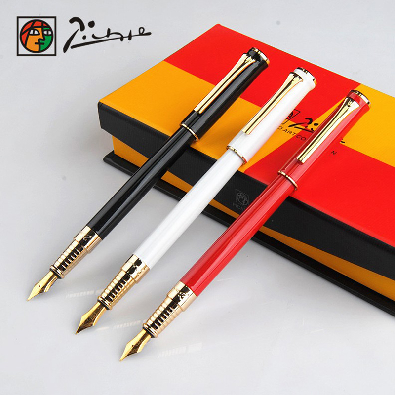 Hot Picasso full metal Iraurita fountain pen 0.5mm ink pen for writing signing pens dolma kalem Caneta tinteiro Stationery 1045 high quality luxury iraurita fountain pen ink pen nib gold picasso monaco stylo plume penna stilografica caneta tinteiro 3834