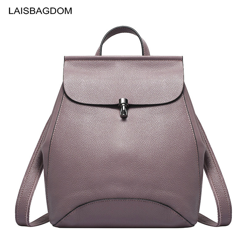 100 Genuine Leather Backpack Women Real First Layer Cowhide Leather Backpack Female High Quality Bags for