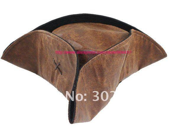 Caribbean Pirate Jack Sparrow Tricorn sombrero del partido del traje adulto  sombrero marrón accesorios de vestuario envío gratis 10 piezas en  Accesorios ... eed06fbcece