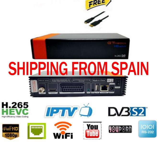GTMEDIA V8 NOVA 5 pièces espagne stock gratuit SAT V9 SUPER Satellite TV récepteur soutien intégré module WIFI EPG et Satellite EPG