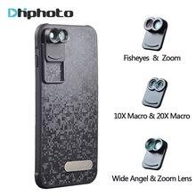 2017 New APEXEL Dual Phone Lens Wide Angle Zoom Telescope Macro Fisheye Camera Mobile Lens kit