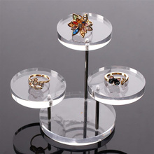 Acrylic Jewelry Display Boxes Bracelet Holder Necklace Rack Showcase Watch Display Stand Clear Acrylic Jewelry Box 3 Tray