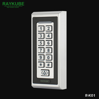 RAYKUBE Access Control Password Keypad RFID 125HKz Metal Case For Door Access Control System R K01 Silver