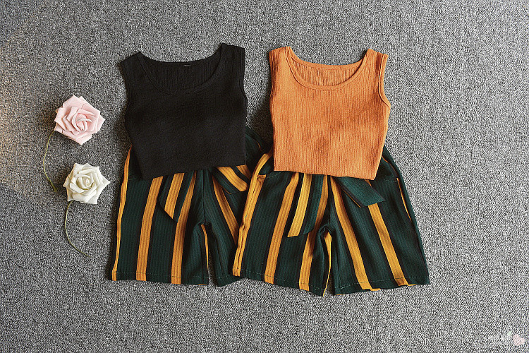 1st-2018-Summer-New-Girls-Summer-Style-Pearl-Pearl-Sleeveless-Tank-Top-Stripe-Belt-Contrast-Color (3)