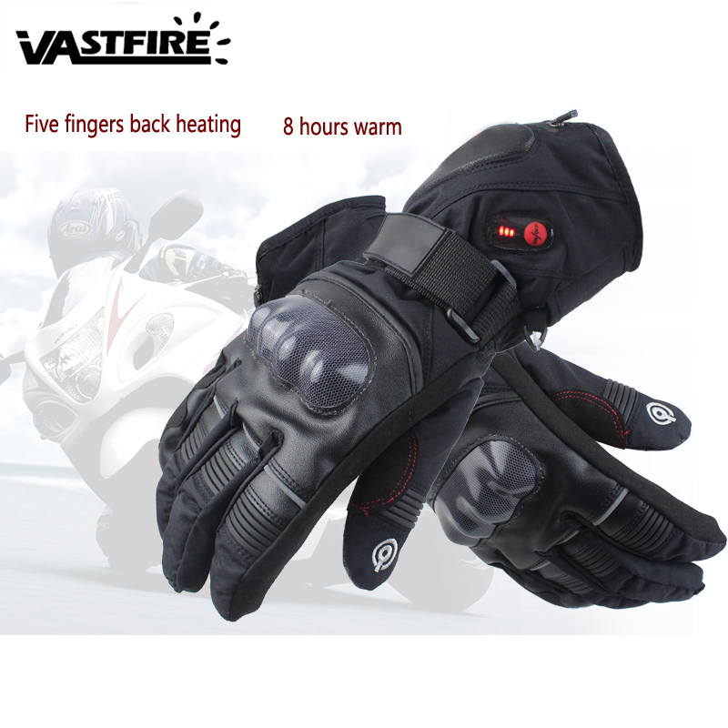 Heated mitten Anti-fall Waterproof Windproof Touch Screen Temperature Control charging 8H outdoor Heating Cycling/bike Gloves