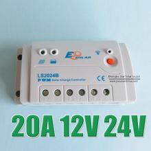 Лидер продаж 20A 12 В 24 В LS2024B LandStar солнечной системы комплект регулятор