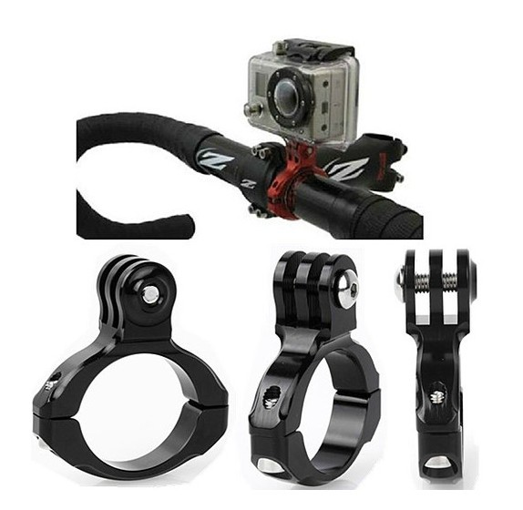 Motorcycle Bike Bicycle Aluminum Handlebar Mount Tripods for Gopro Hero 4 3 2 and sj4000 / xiaomi yi Camera Accessories