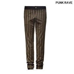 Gothic Palace Noble Suit Pants Steampunk Men Stripe Pants fashion High Grade Suit Woven Trousers PUNK RAVE K-271