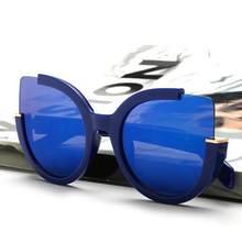 2091247741d27 Mulheres Óculos de sol Dos Homens Lente Espelho Retro Óculos Unissex Moda Olhos  de Gato Do Vintage Óculos de Sol por atacado   E..