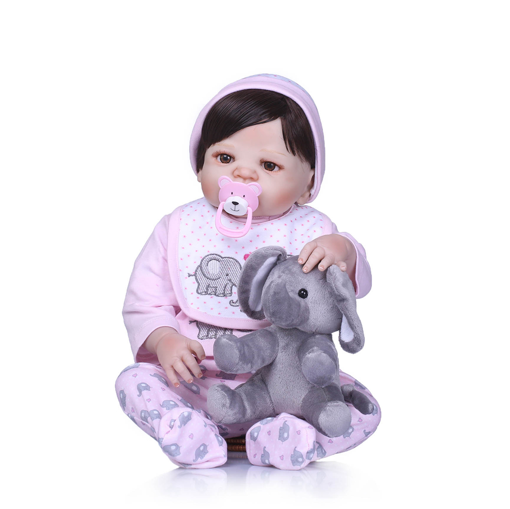 57 cm Full Silicone Reborn Dolls Kids Playmate 23 Inch Realistic Baby Dolls For Sale Bebe Alive Reborn Toy Xmas Gifts For GIRL57 cm Full Silicone Reborn Dolls Kids Playmate 23 Inch Realistic Baby Dolls For Sale Bebe Alive Reborn Toy Xmas Gifts For GIRL