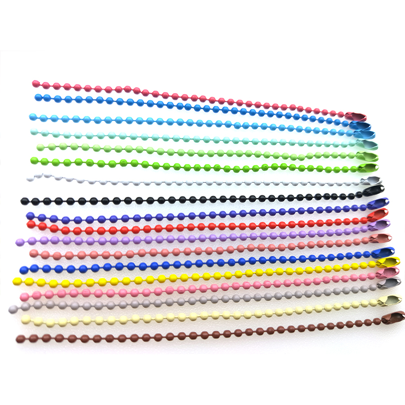 1Packs wholesale lots bulk Colorful 2.4mm Ball Ball Bead Chain Ball Chains With Connector For DIY Accessories Key Chain